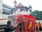 As the New Year dawned  Sri Dalada Maligawa came alive with annual rice ritual