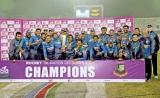 Madushanka's hat-trick on debut seals title for Sri Lanka