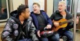 Subway Karaoke:James Corden, Sting and Shaggy in viral Grammy clip