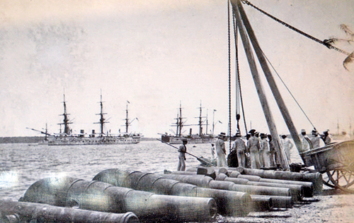 Cannon Unloaded in trincomalee Harbour