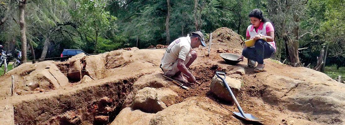Treasure trove of artefacts excavated at Sigiriya