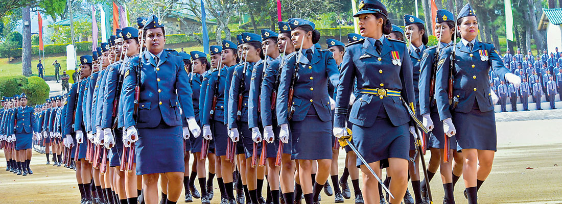 SLAF Combat Training School Diyatalawa awarded President's Colours