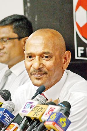 Lankans stroll back to the international Football arena