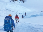 Second rotation climb – through the treacherous Khumbu Ice Fall