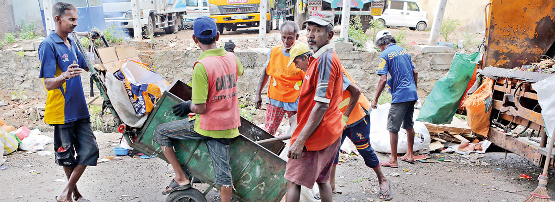 Garbage separation exposes sanitation workers to disease