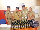 Airport police nab woman attempting to smuggle in 24 bottles of liquor