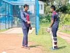 A cricketer with a  future already cutout