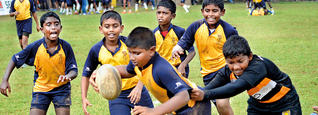 Keen youngsters at Rugby Carnival