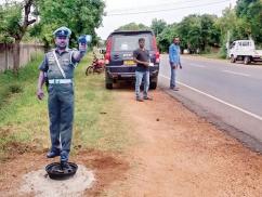 Dummy traffic cops to curb speeding