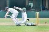 Mathews and Kaushal prop up the Lankans