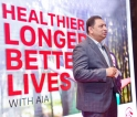 AIA encourages people  to live a healthy lifestyle