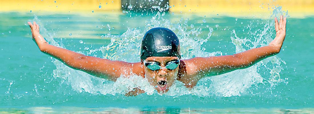 Wesley's swimming  sensation — Adeetha