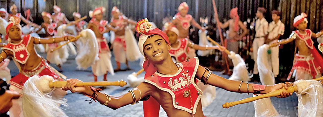 Young dancers at the Kandy Esala Perahera