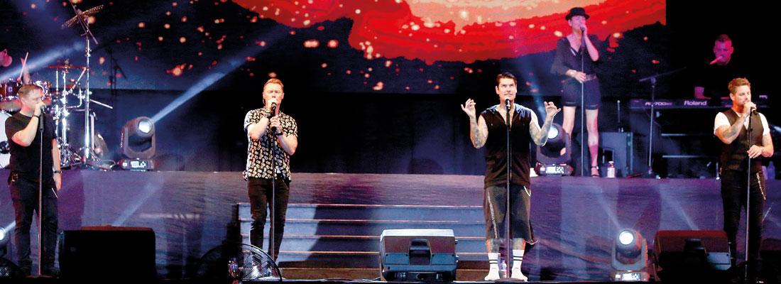 No Matter What : Boyzone make it a night to remember