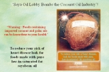 Is coconut oil poison?