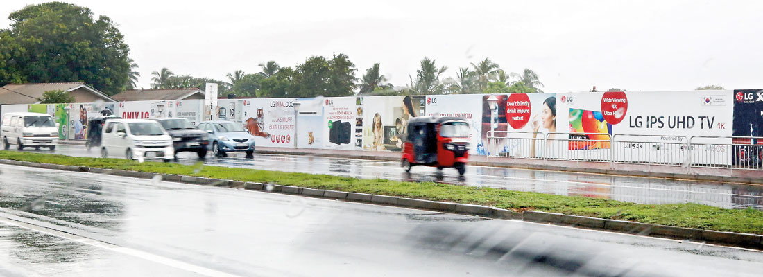 Safety hazard check for Ratmalana airport border wall
