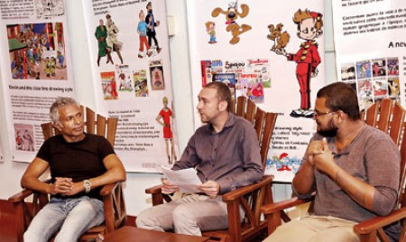 Lively literary chat brightens up a rainy Kandy evening