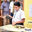 Young Dinura's battery powered electric cars makes magic at SPARK   '18