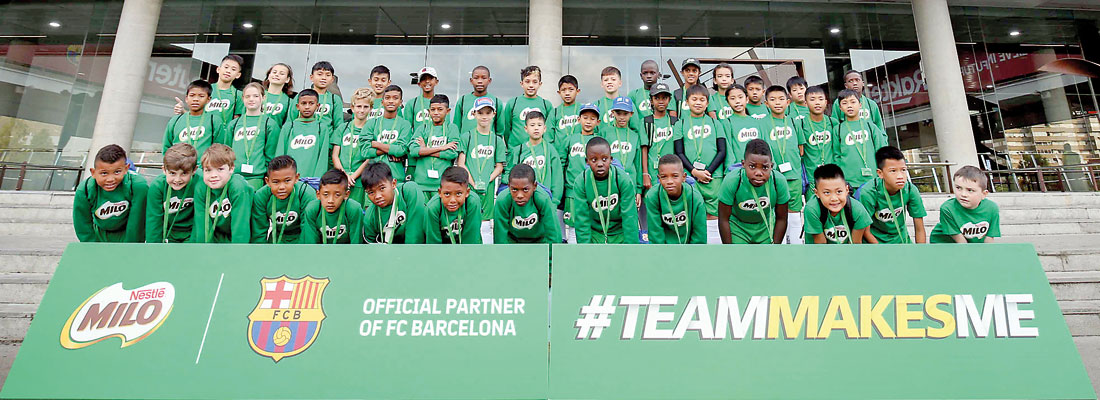 Milo made the ultimate football dream of these young football players come true