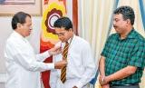 IMO Bronze Medalist Abhindra Mahabaduge feted by President Sirisena