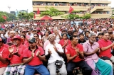 Democracy lovers join UNP demonstrators, JVP hits out at both leading parties