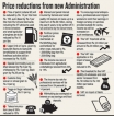 Concessions, price reductions and promises to reduce the cost of living