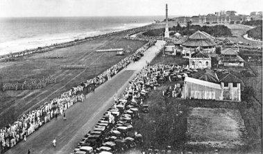 The cenotaph once stood tall on Galle Face Green