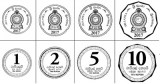 New smaller coins into circulation