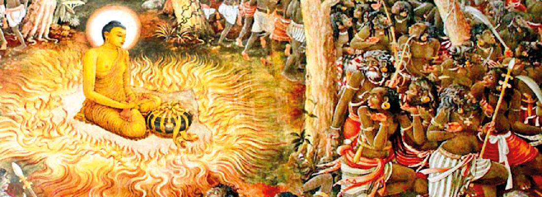 Buddha's first peace mission to Sri Lanka