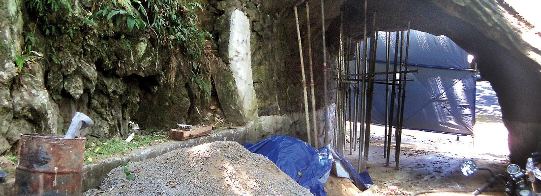 Historic Kadugannawa tunnel under restoration