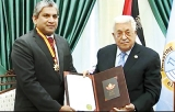 Palestine President honours Lanka's envoy with friendship gold medal