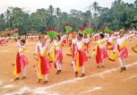 A dance performance by students of Walasmulla