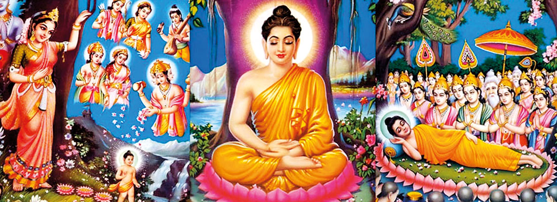 The Birth, the Enlightenment and Nirvana of Gautama the Buddha