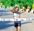 Isuru and  Gayani clinch race walking titles
