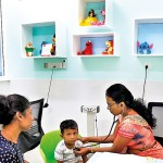 Consultation room with a children-friendly look