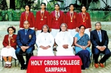 Holy Cross Gampaha wins District Shuttle Championship