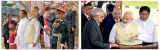 Maithri, Ranil vie for Modi's 'ear' during whistle stop