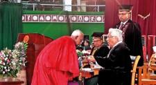 Emeritus Prof Mahasara Gunaratne conferred Honorary Doctorate