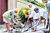 Road repairs in Borella