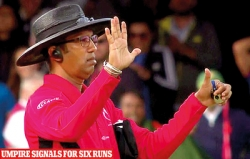 Umpire Dharmasena on six-run controversy