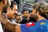 Slinger Malinga bats for Rajapaksa in farewell speech telecast live