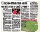 ICC finally defends Dharmasena over 6-run incident