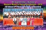 Seethadevi Girls' College Kandy wins at Inter-School Western Music and Dance Competition 2019