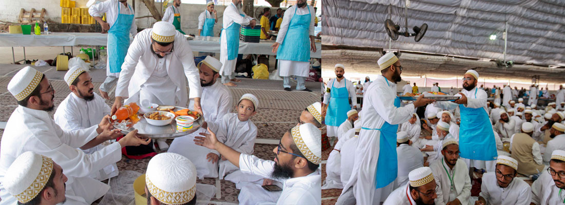 Shining lesson on zero food wastage policy at massive Bohra conference