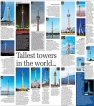 Tallest towers in the world…