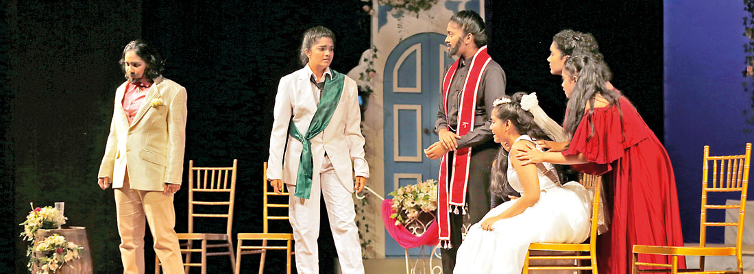 A glimpse at the Girls'  Semi-Final Competition of the Shakespeare Drama Competition