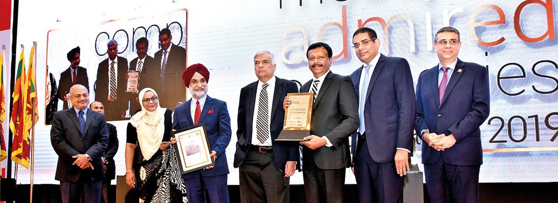 LOLC wins Sri Lanka's Most Admired Companies Award