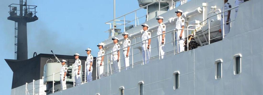 PLA navy ship Zhu Ke Zhen on goodwill visit