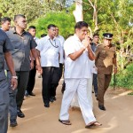 Presidential candidates and party leaders arrive to cast their votes: NDF candidate Sajith Premadasa at Suranimala Primary school