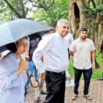 Weerawila and Premier Ranil Wickremesinghe at College House, Colombo